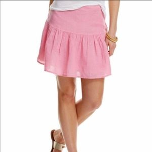 NWT Vineyard Vines Pink Linen Mini Skirt Size 10